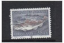 Greenland - 1981 Atlantic Cod stamp - F/U - SG 130
