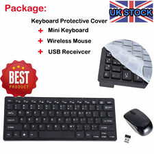 Mini 2.4G Wireless Keyboard and USB Optical Mouse Combo Kit for Desktop PC MAC