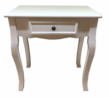 White Shabby Chic Bedside Table Bedroom Furniture Dressing Table with 1 Drawer
