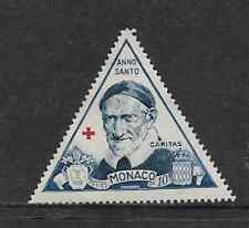 MONACO POSTAGE MINT HINGED  STAMP 1951 - SAINT VINCENZ OF PAUL - HOLY YEAR 50