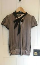 womens black lace party top size 12 warehouse