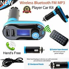 Bluetooth Wireless Car Charger Card Audio MP3 Player LCD FM Transmiter Dual USB