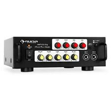 AUNA 400W MAX MINI DJ PA PARTY HIFI AMPLIFIER 2 MICROPHONE INPUT