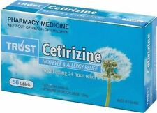 SAME AS ZYRTEC - CETIRIZINE 10MG 50 TABLETS