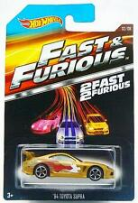 Fast & Furious 1994 Toyota Supra Car Hot Wheels Diecast 1:64 Scale