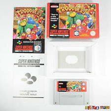Troddlers - BOXED WITH MANUAL - CIB - TESTED - Super Nintendo SNES Game PAL