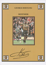 GEORGE BOATENG Signed 12x8 Print HULL CITY AFC The Tigers COA