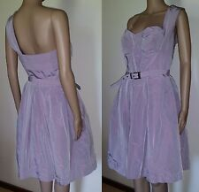 CUE Size 10 Lilac One Shoulder Cocktail Dress