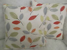 "WOODLAND GARDEN BY JOHN LEWIS 1 PAIR OF 18"" CUSHION COVERS DOUBLE SIDED & PIPED"