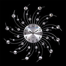 Wanduhr Moderne Küchen Wanduhr Küchenuhr Designer Quartz Uhr Bürouhr silber NEU