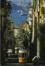 Ansichtskarte: Standseilbahnen in Lissabon - Elevator da Bica, Altstadt- Blick