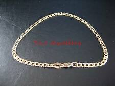 Genuine 9ct 9k Solid Yellow Gold Oval Double Curb Diamond Cut Ladies Bracelet