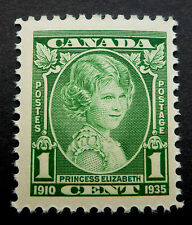 CANADA ORIGINAL `1935  ENGRAVED PORTRAIT OF 9 YEAR OLD PRINCESS ELIZABETH
