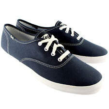 LADIES KEDS CHAMPION BLACK CANVAS LACE UP PLIMSOLL TRAINERS SIZE UK 7 BRAND NEW