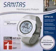 SANITAS SPM 25 Herzfrequenz Pulsuhr mit Brustgurt Uhr EKG-genau