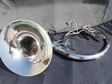 """SOUSAPHONE 22"""" BELL OF PURE BRASS(CHROME POLISH) +CASE + MOUTHPC(NEW YEAR OFFER)"""
