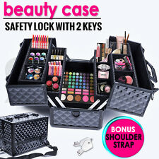 Portable Beauty Case Makeup Cosmetics Box Carry Bag Jewellery Box Organiser