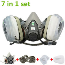 7 Pieces For 3M 6200 Gas mask Half Face Spray Painting Protection Respirator