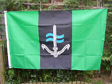 Royal Marines SBS Special Boat Service Famous Green Beret Badge On Military Flag