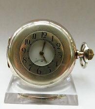 Zenith Halbsavonette Taschenuhr, Silber, Grand Prix Paris 1900, guter Zustand