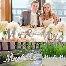 Mr and Mrs White Letters Sign PVC Standing Top Table Wedding Decoration