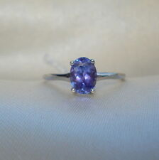 1.10ct Violet/Pink Tanzanite Solitaire 14k White Gold Engagement Ring