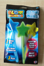 Pack of 3 Glow Wands 15cm long, Party,Disco.Camping,xmas bonfire etc UK SELLER