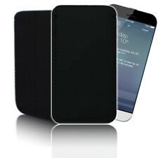 'BLACK' [L]Neoprene Rubber Pouch for APPLE IPHONE 6 (4.7) Case Cover Slip Wallet