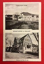 AK ERNSTHOFEN im Odenwald 1918 Wallbrunn´sches Schloss und Gasthaus Post ( 9771