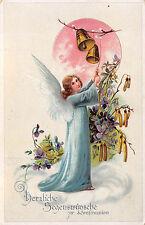 AK Konfirmation, Engel mit Veillchen und Glocken
