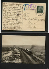 Germany post card  , postage due, nice train card 1936            KL0211