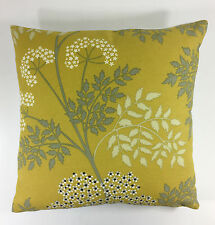 Sanderson Cow Parsley Cushion Cover in Chinese Yellow 16x16""