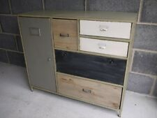 Vintage Industrial painted sideboard multi Retro style Storage Chest console
