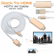 2M Apple Lightning Connect to HDMI TV AV Cable Adapter for iPhone 5S 6 6S 7 Plus