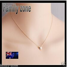 18K Rose Love Gold Plated romantic Heart Pendant Necklace jewellery set chain