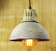 Industrial Style Retro White Metal Shade Ceiling Pendant Lamp Chandelier fitting