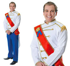 Mens Prince Charming Fancy Dress Costume Royal Family William Outfit New