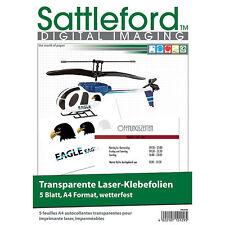 Sattleford 5 Klebefolien A4 für Laserdrucker transparent