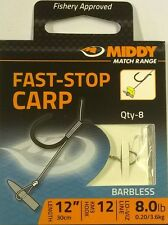 MIDDY TACKLE FAST STOP CARP (LONG) HOOKS TO NYLON sz 12 EAN 5055200549519