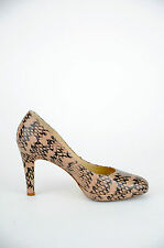 'Milana' Women's Animal Print Leather High Heel {Size 39}