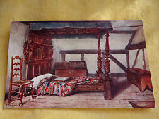 Antique vintage set of two coloured Shakespeare's birthplace postcards J Salmon