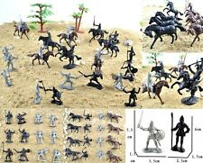 28 pcs Knights Warriors Horses Medieval Toy Soldiers Figures Playset