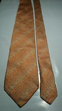 Missoni Men's Vintage Silk Tie in Red Orange and Silver with Embossed Logo