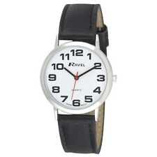 Ravel Mens Ladies Large Dial Clear  White Face Watch  R0105.06.1A