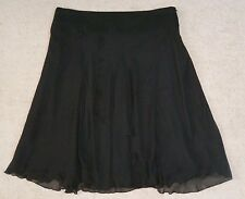 MILLERS black mid length chiffon skirt, Suit size 18, NWT