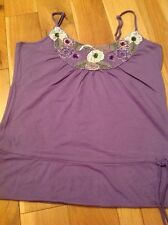 Ladies Strappy Top By Vero Moda Size Large, Purple