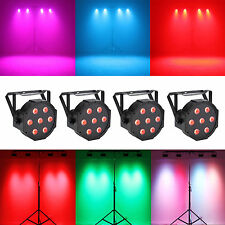 AU STOCK 4PCS 7 LED x 10W PAR64 RGBW DMX DJ PAR Light Xmas Party Stage Lighting