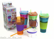 Brand New Snack Easy 2-in-1 Snack N Drink Travel Cup 16 0z Drink Various Colours