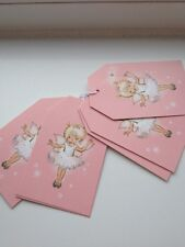 M&S fairy gift box tag baby pink white girls p.of 6 BNWT NEW all occasions