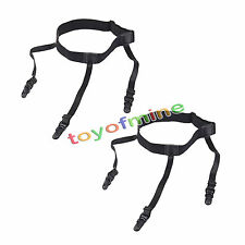 Pair Men's Shirt Stays Holders Elastic Garter with Non-slip Locking Clamps New